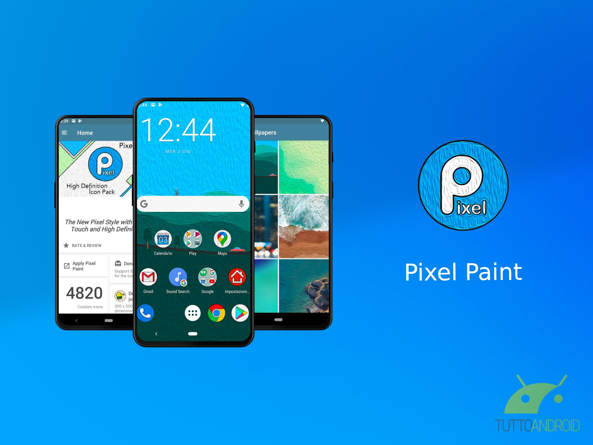 Pixel Paint icon pack combina lo stile Pixel con l'arte dell
