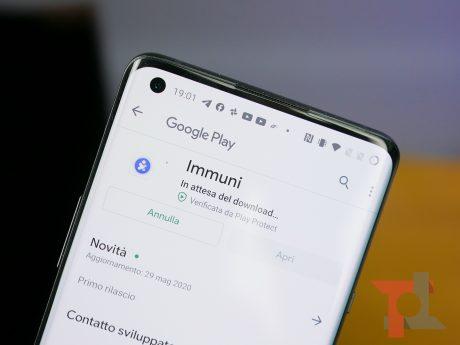 Immuni download app tt