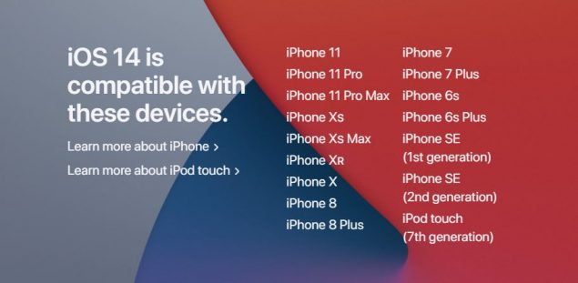 iphone 6s ios 14 aggiornamenti smartphone android