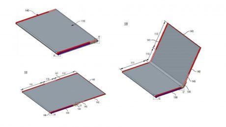 lg smartphone display pieghevole arrotolabile brevetto