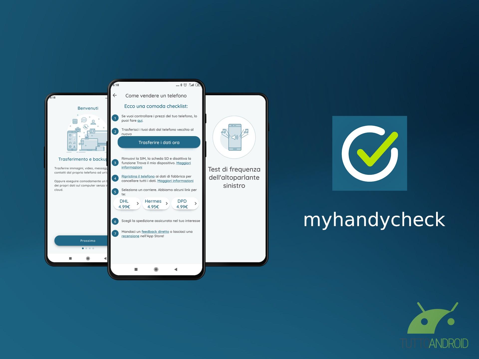 L'app myhandycheck vi aiuta in tutto quando dovete cambiare