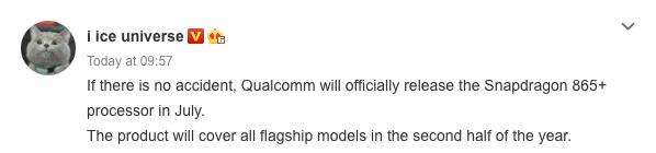 qualcomm snapdragon 865 plus luglio rumor