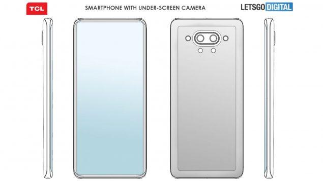 tcl smartphone fotocamera sotto il display brevetto