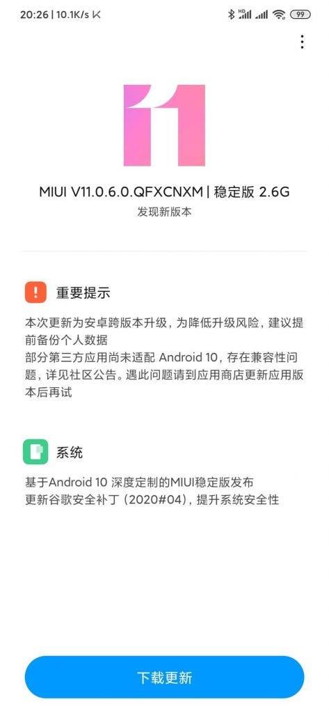 Xiaomi Mi 9 Pro 5G MIUI 11 Android 10