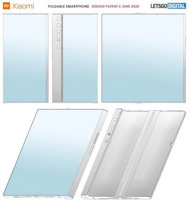 xiaomi smartphone display pieghevole design brevetto