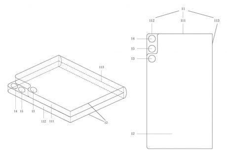 xiaomi smartphone pieghevole fotocamera anteriore posteriore brevetto