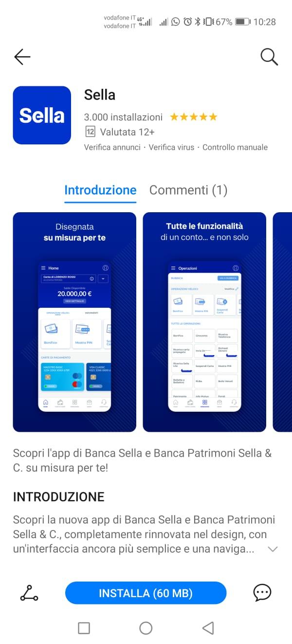 app Sella su Huawei AppGallery