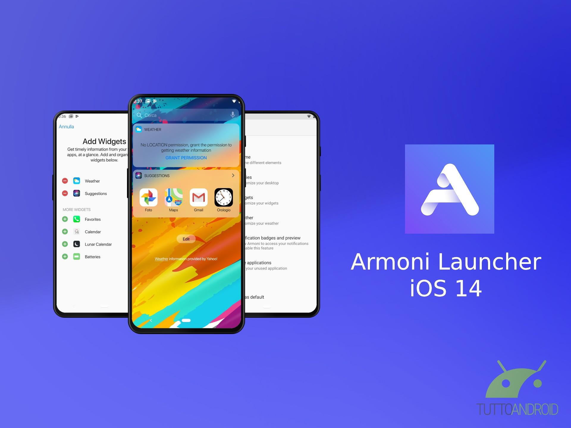Armoni Launcher porta il look di iOS 14 sugli smartphone And