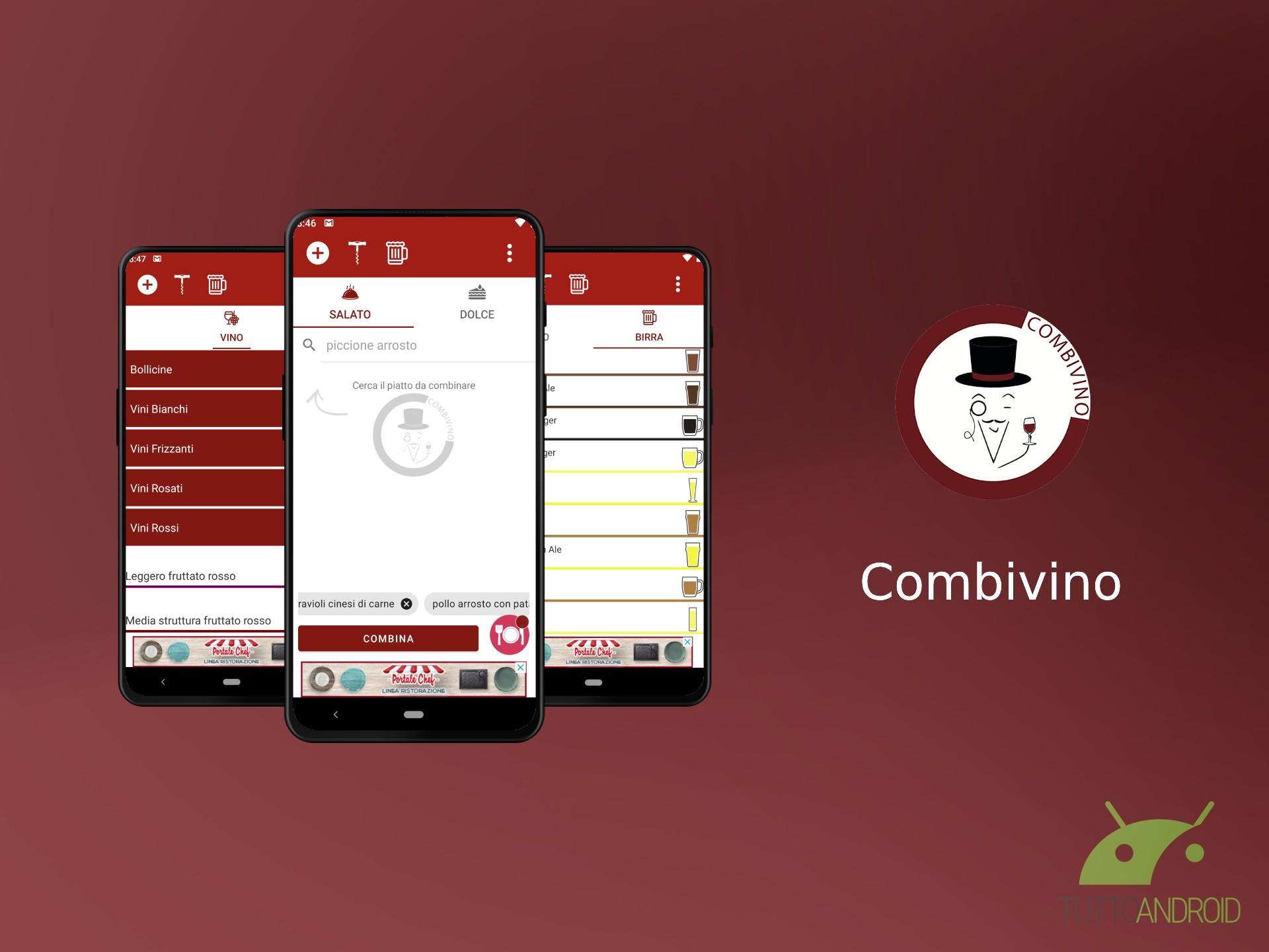 L'app Combivino abbina vino e birra alle portate come un som