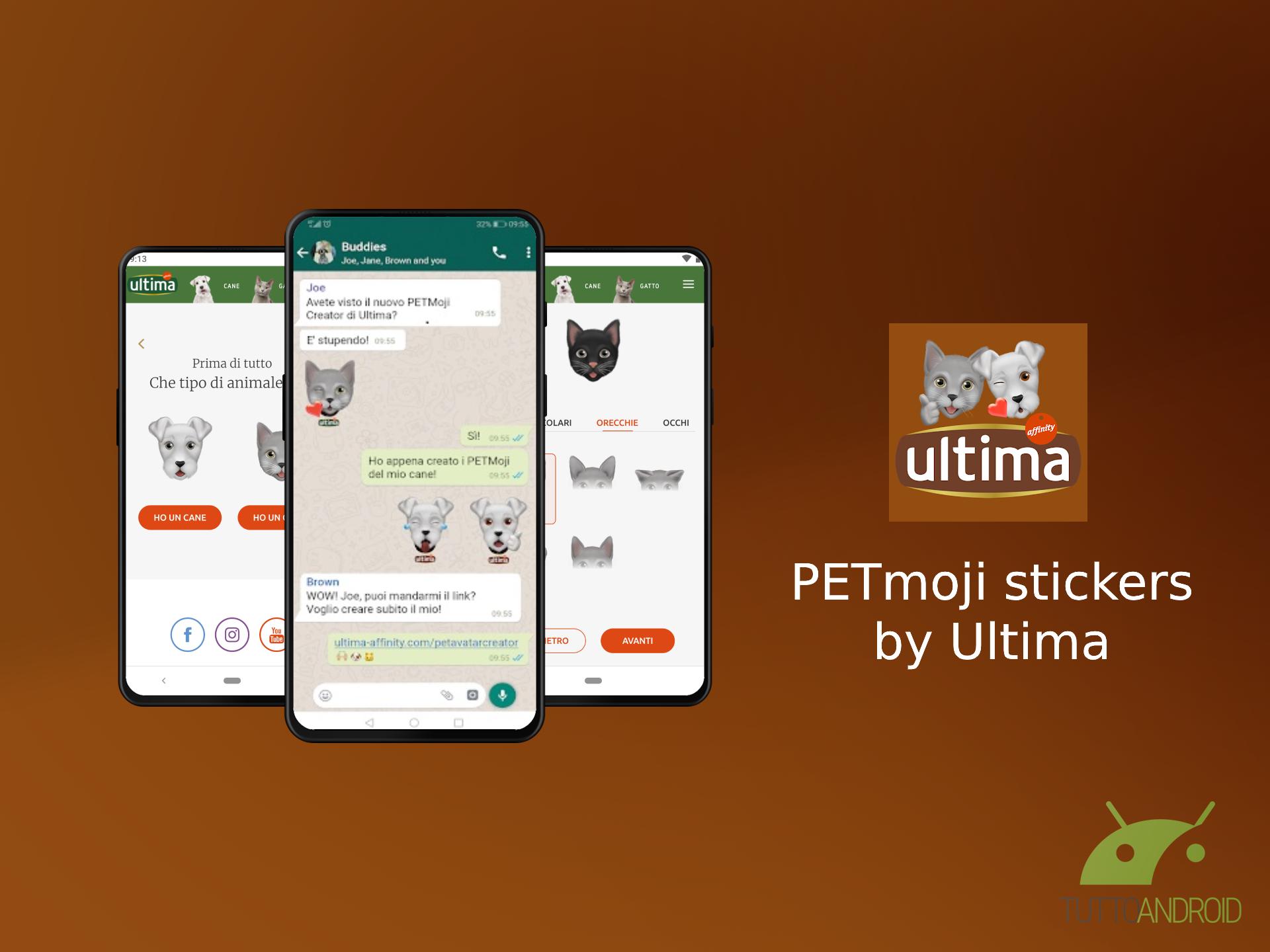 PETmoji stickers crea l'avatar del vostro animale domestico per WhatsApp
