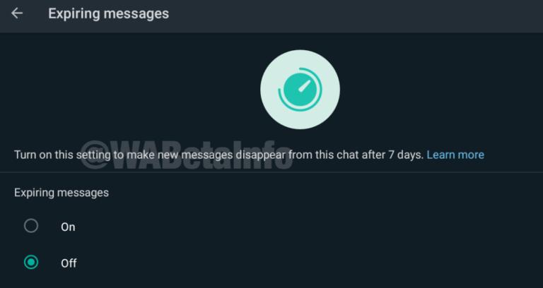 Aggiornamento WhatsApp: l'app verso l'autodistruzione dei messaggi