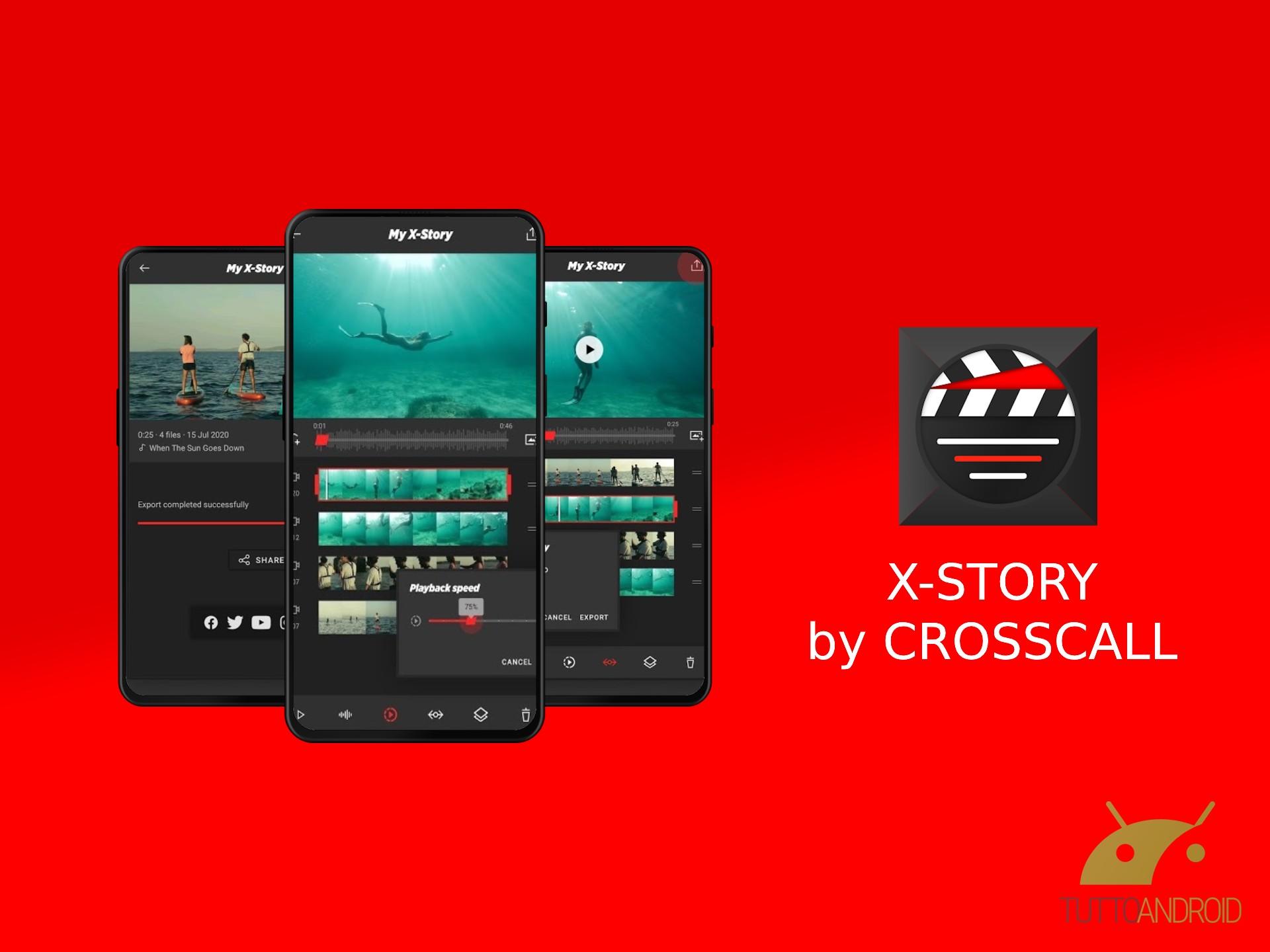X-STORY è l'app giusta per creare i video delle vostre avventure outdoor
