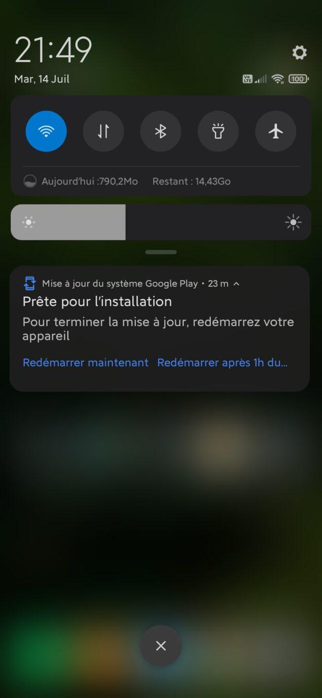 aggiornamenti android google play store riavvio