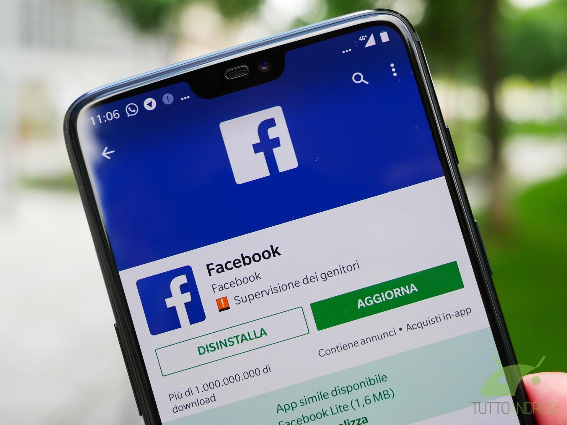 Aprite Facebook per Android, ora potete scegliere i collegam