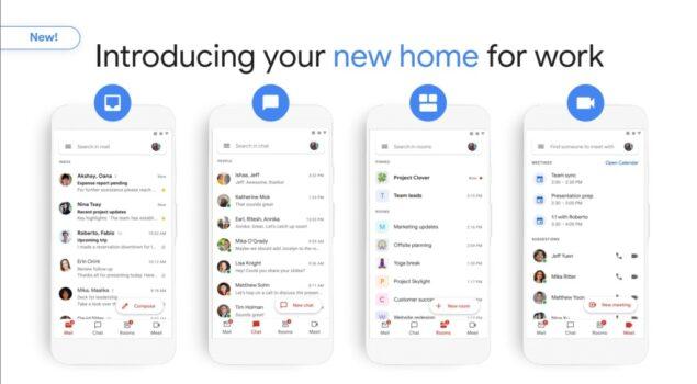 Gmail per G Suite, integrazione con Chat, Meet e Rooms