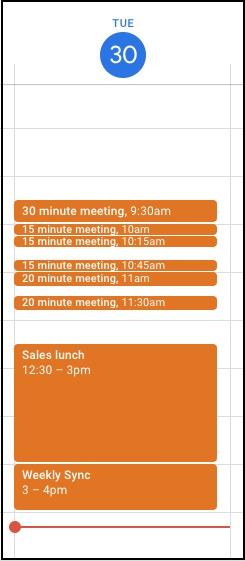 google calendar nuovo design riunioni brevi novità