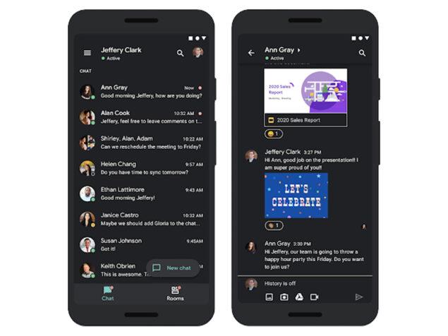 google chat modalità scura disponibile