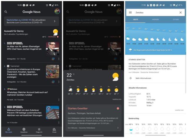google duo effetti ar promemoria notifiche allerta meteo news filtri play store
