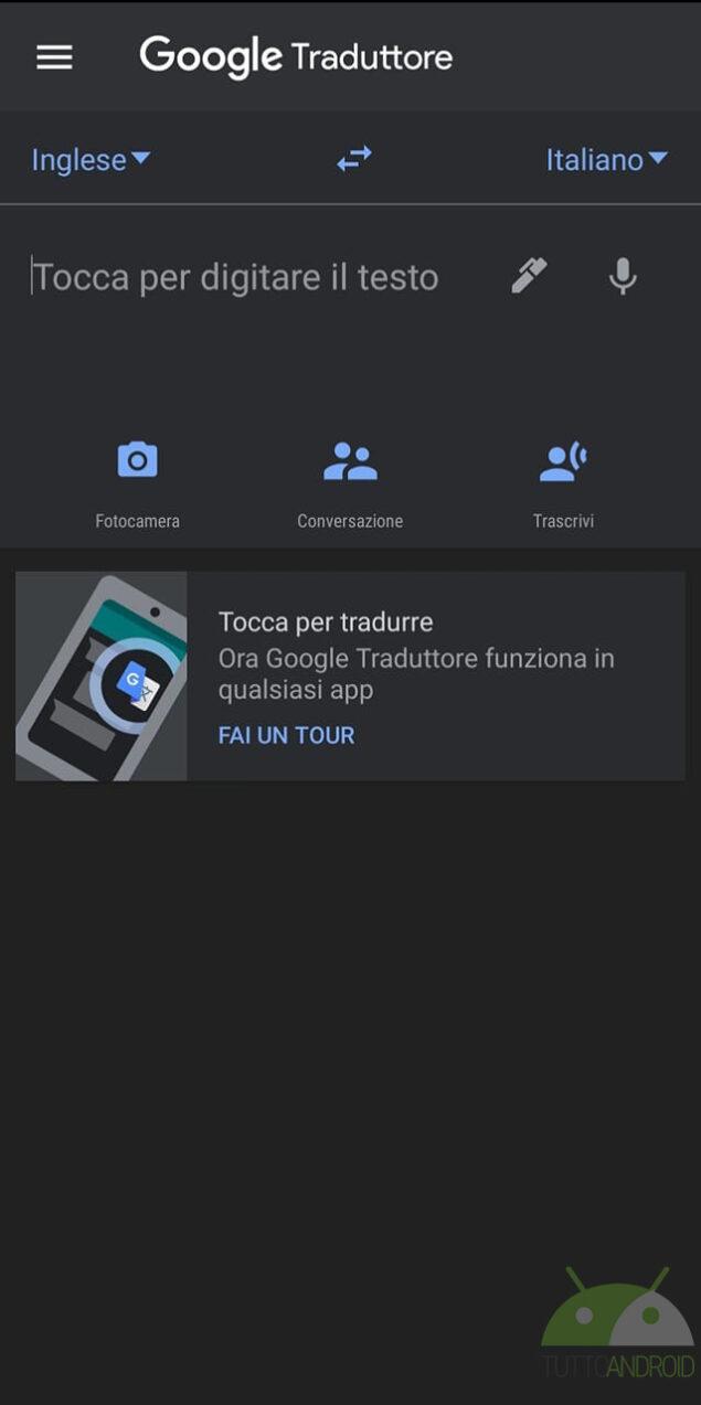 google traduttore 6.10 aggiornamento novità