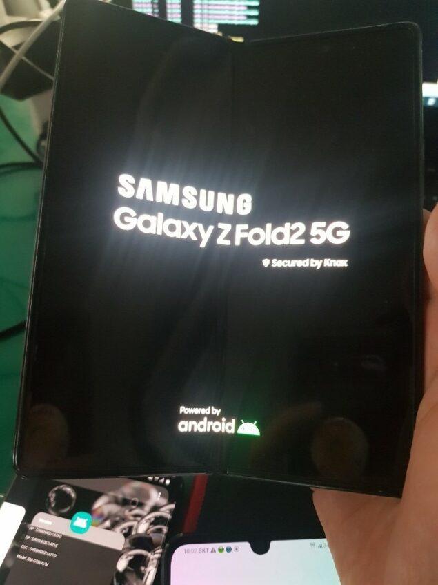 samsung galaxy fold 2 immagine leak fotocamera punch hole