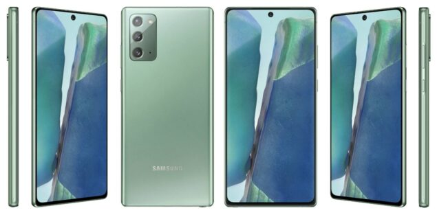 Samsung Galaxy Note 20 render ufficiale