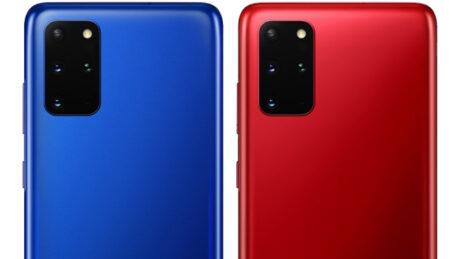 samsung galaxy s20 plus aura blue red