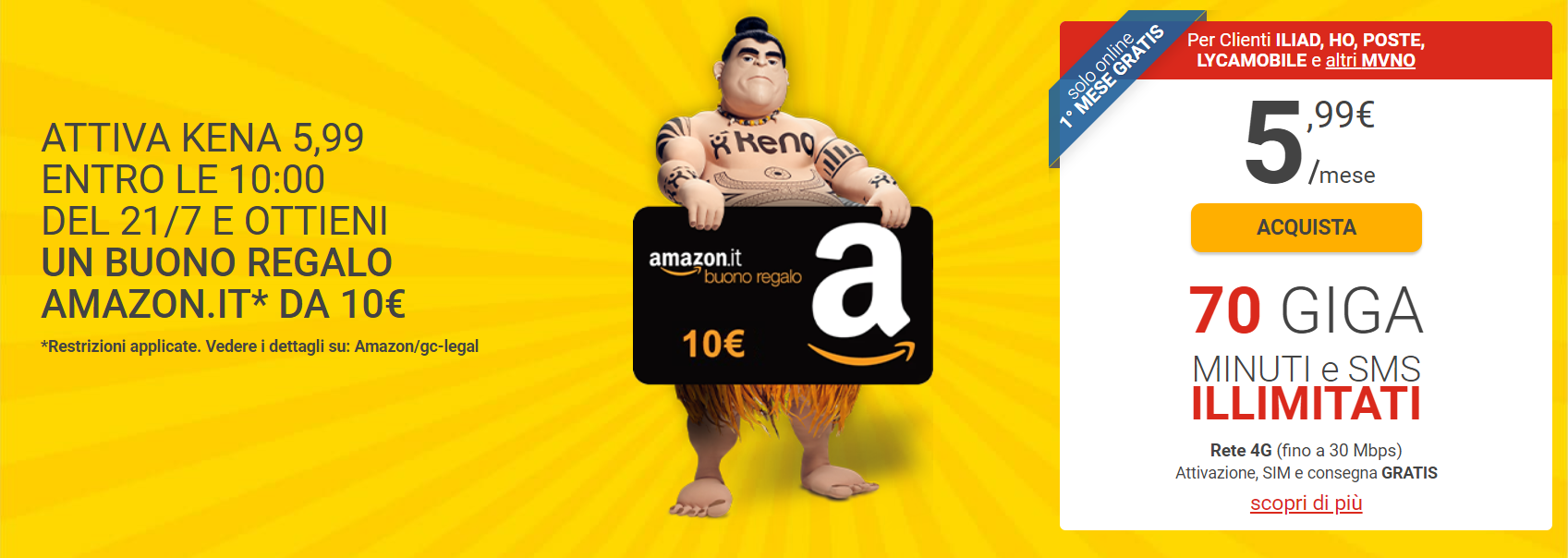 offerta kena mobile buono amazon
