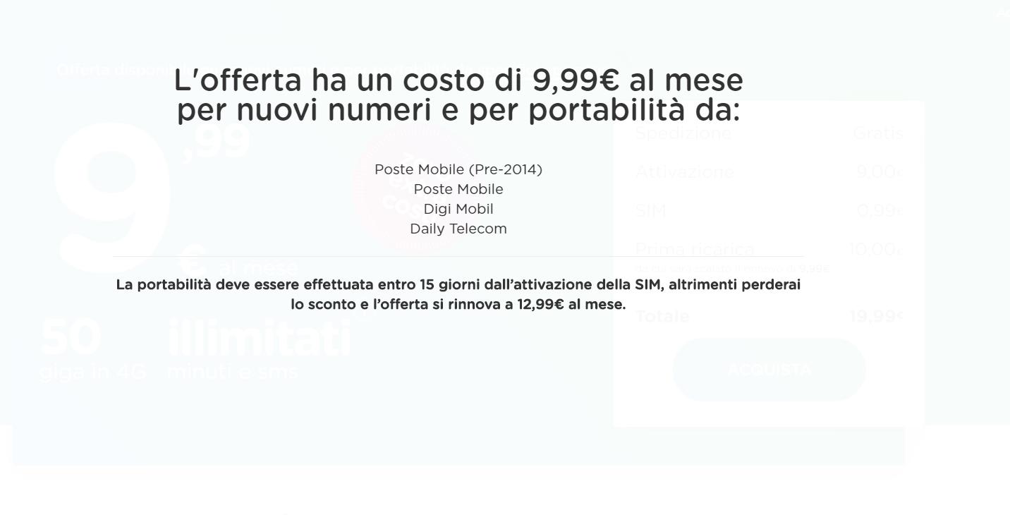 ho mobile offerta 9,99 target