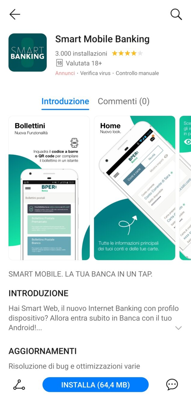 smart mobile banking appgallery disponibile