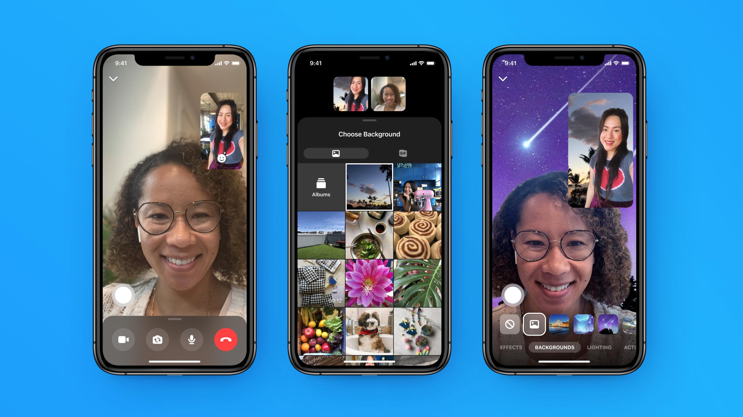 sfondo personalizzato Facebook Messenger Rooms
