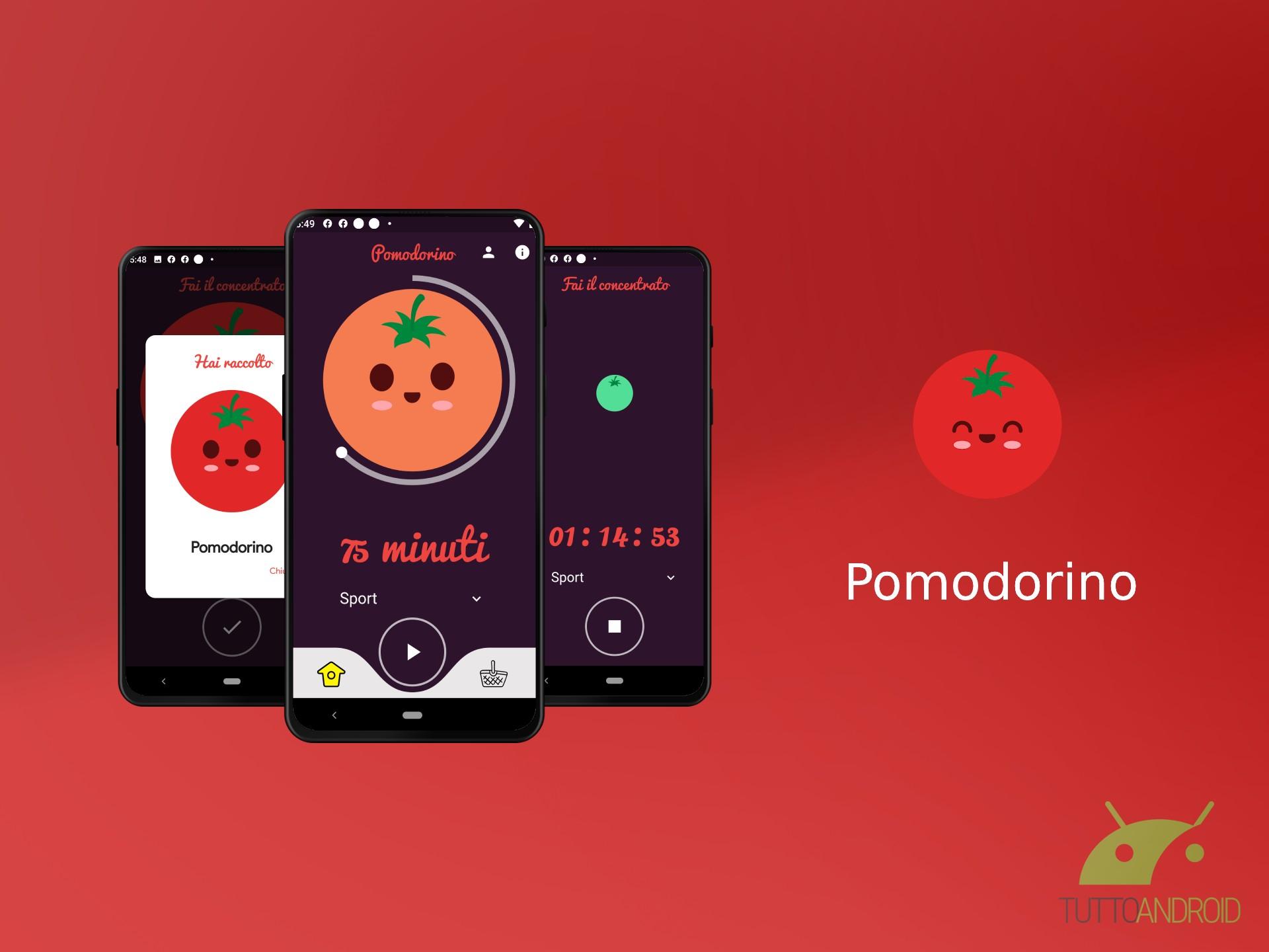 L'app Pomodorino vi aiuta a non distrarvi con lo smartphone