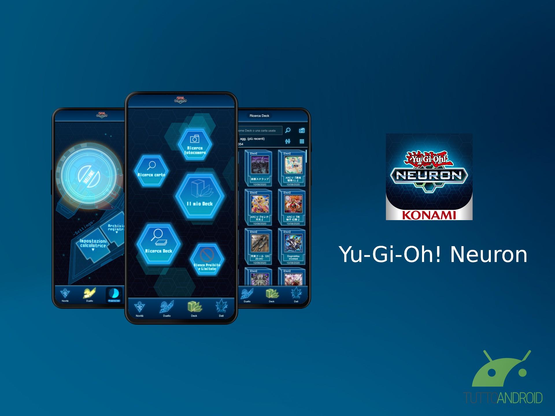 La companion app Yu Gi Oh! Neuron facilita la gestione dei Deck