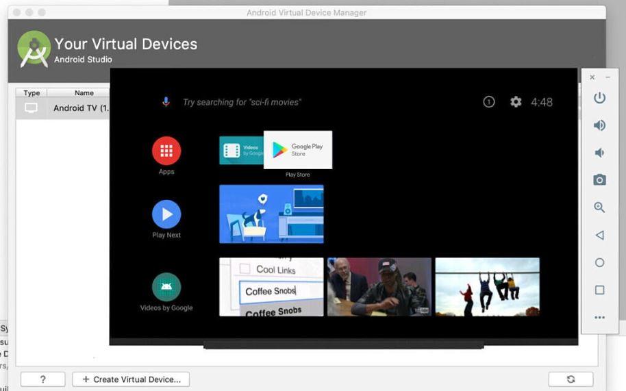 emulatore Android TV