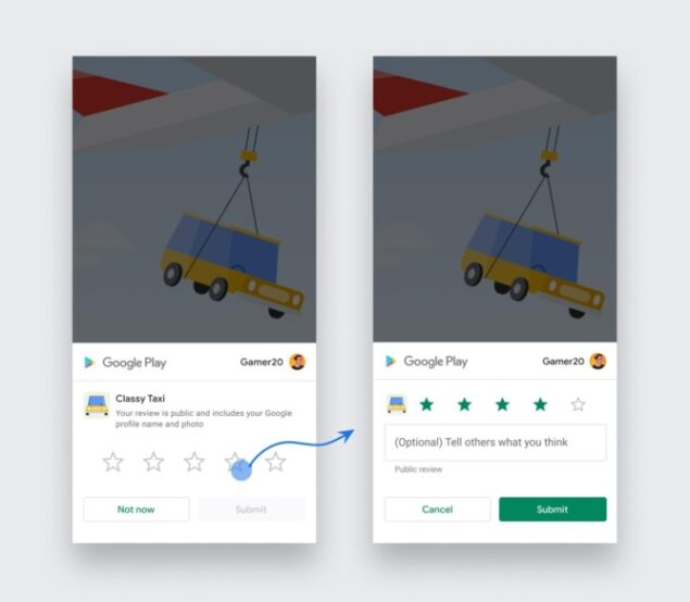 google android in-app review api