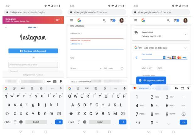 Google completamento automatico Android
