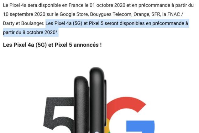 google pixel 4a 5g 5 data lancio 8 ottobre