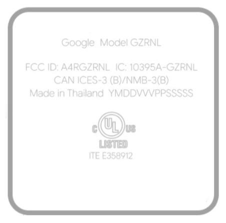 google sabrina gzrnl g9n9n fcc certificazione