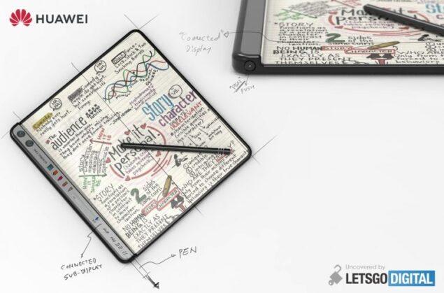 huawei smartphone pieghevole brevetto
