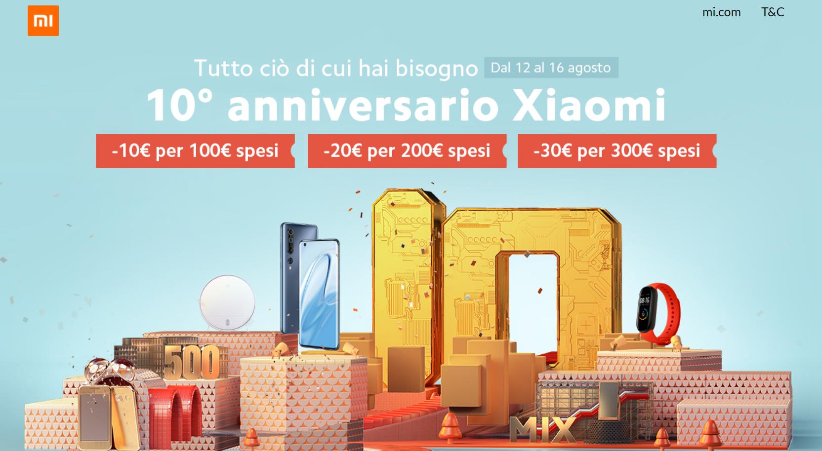 10° anniversario xiaomi