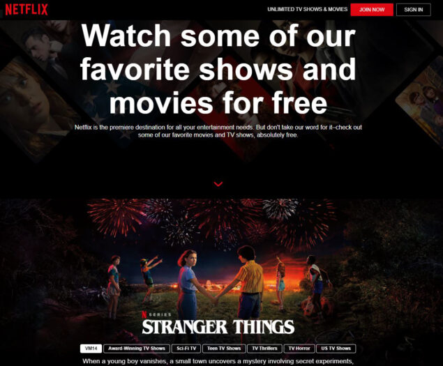 netflix film serie tv streaming gratuito senza account