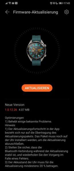 huawei watch gt aggiornamento