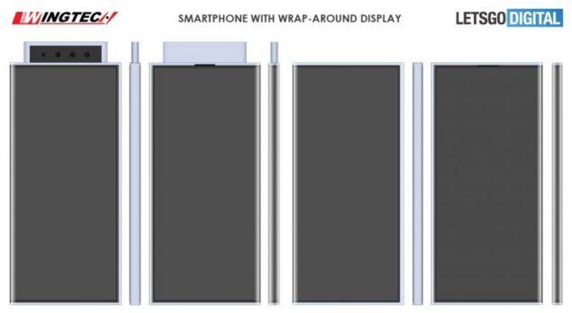 wingtech xiaomi smartphone display avvolgente brevetto