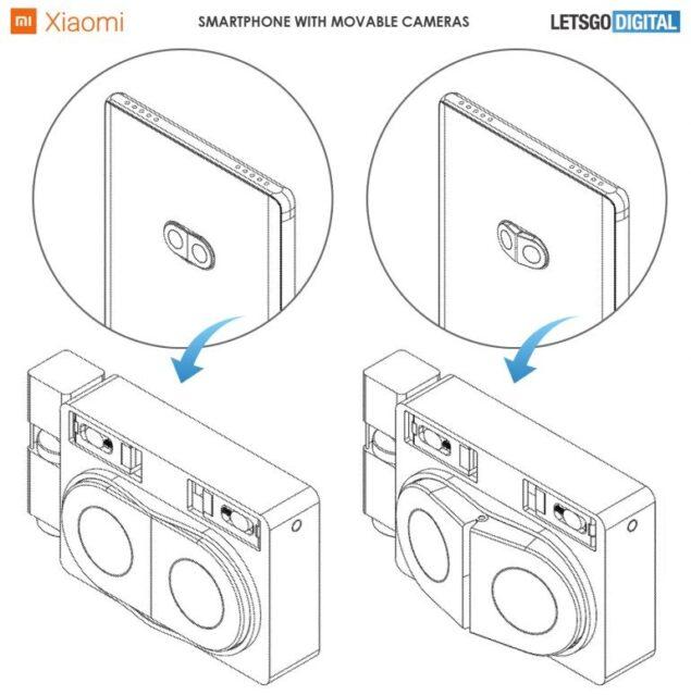 xiaomi smartphone fotocamera rimovibile brevetto