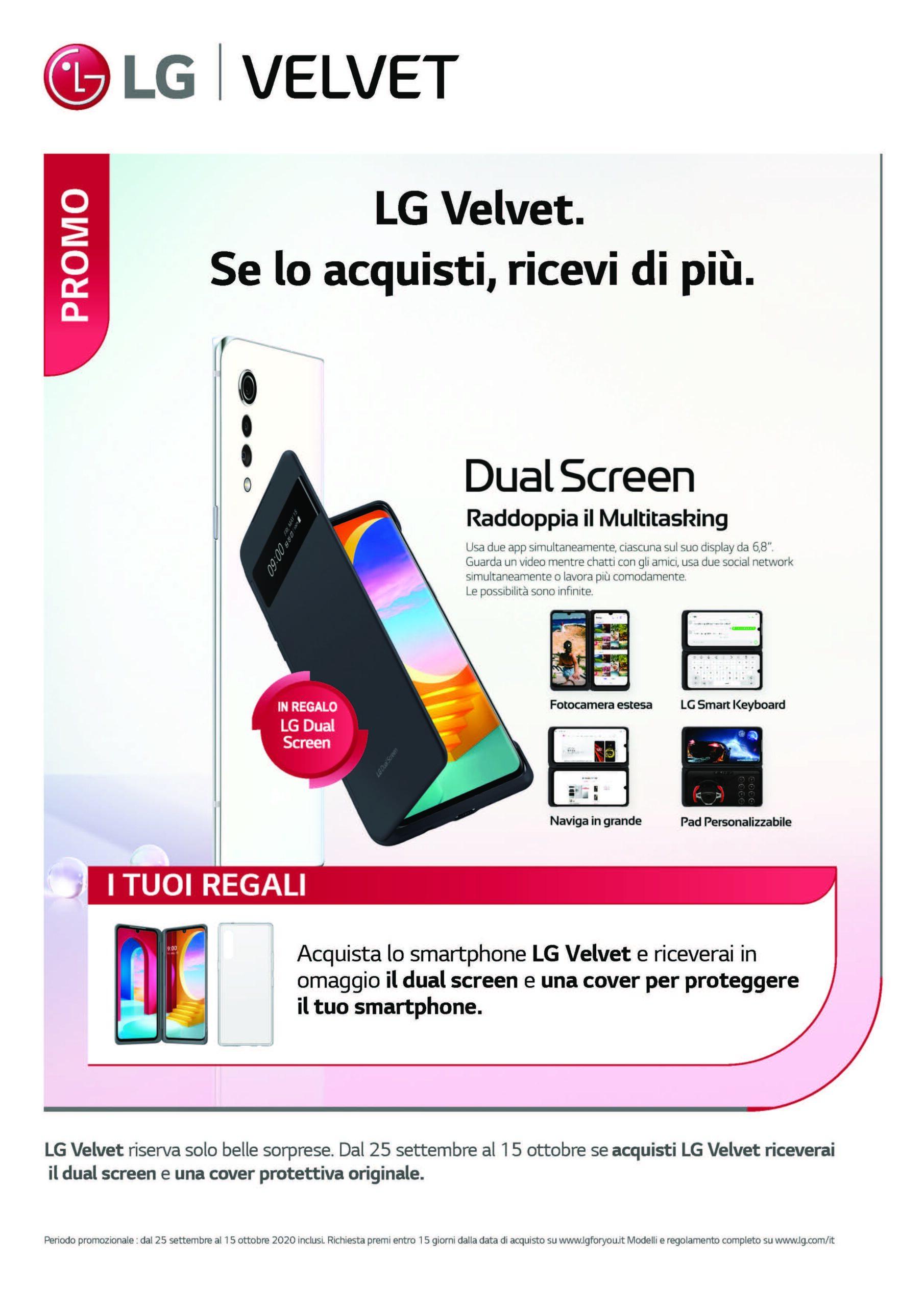 lg velvet promozione dual screen