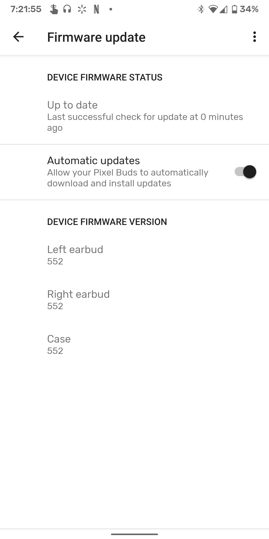 Google Pixel Buds 2 update