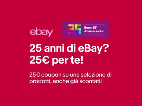 eBay offerte coupon 25