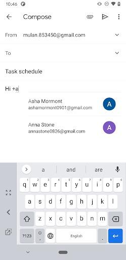 gmail contatti email scorciatoia