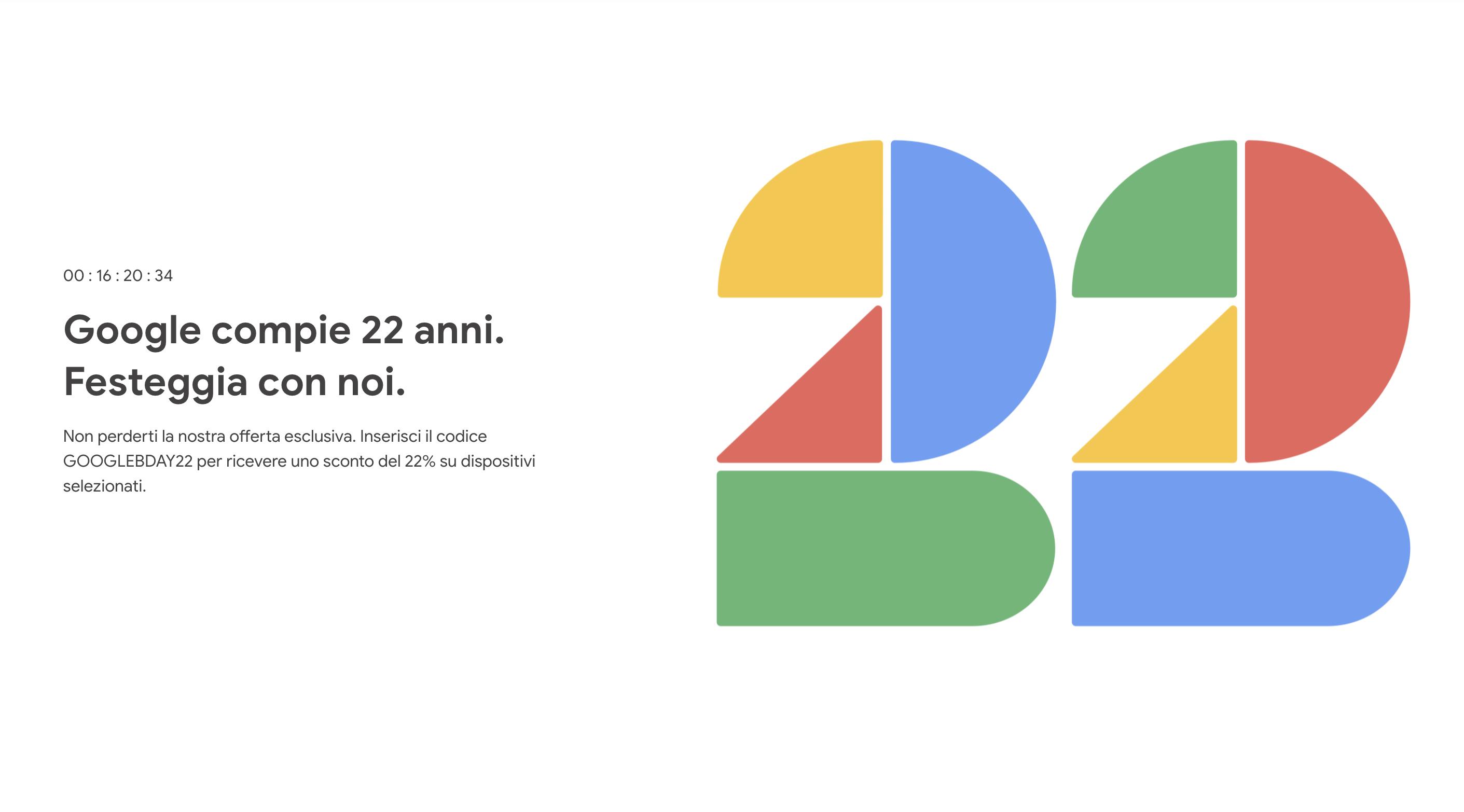 Incredibile sconto del 22% sul Google Store, ma solo per oggi 27 settembre