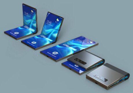hp smartphone pieghevole brevetto