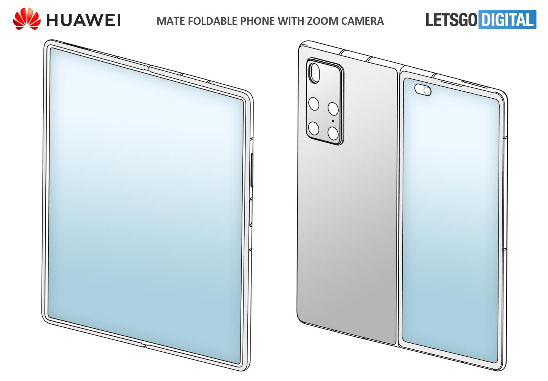 Il brevetto di un nuovo Huawei pieghevole anticipa parte di Mate X2